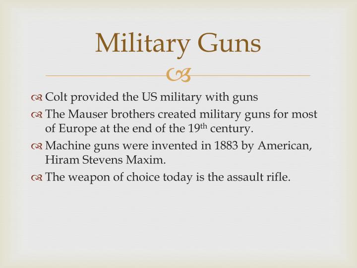 Military Guns
