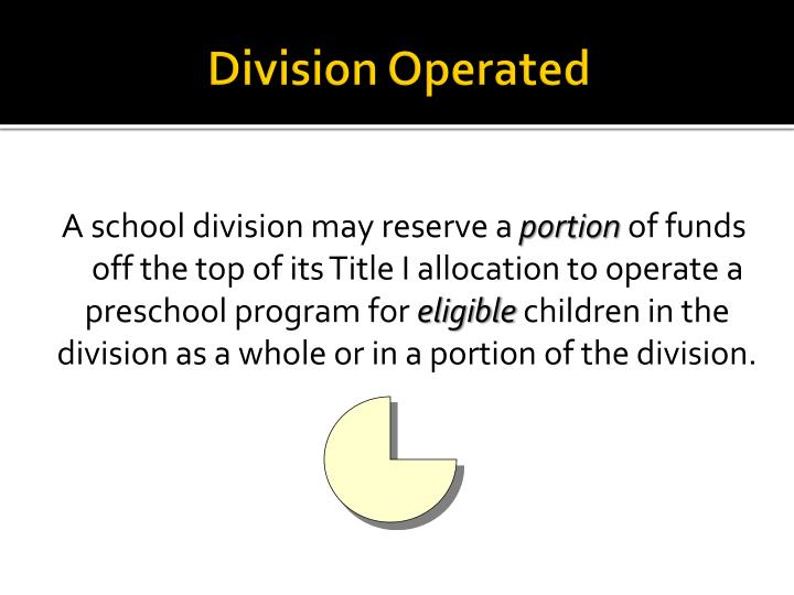 Division Operated