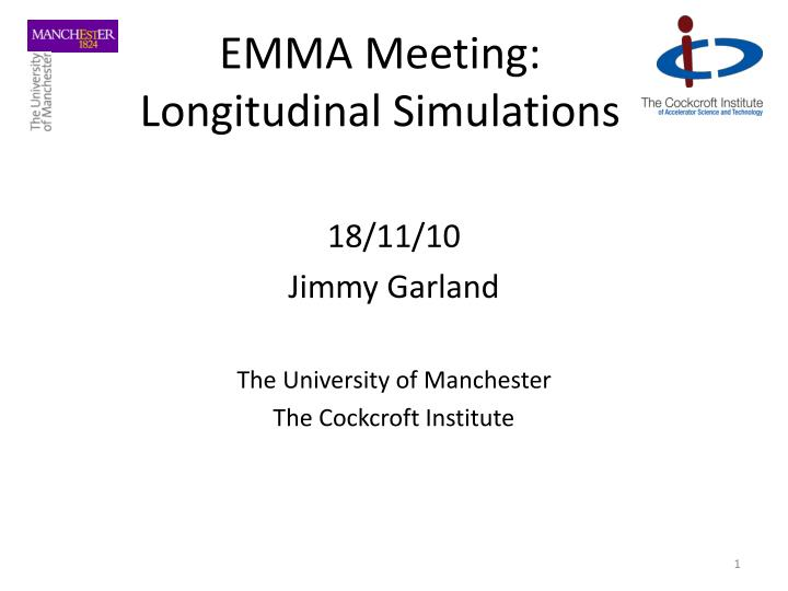 Emma meeting longitudinal simulations