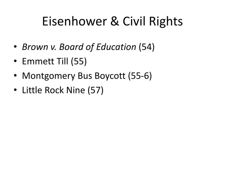 Eisenhower & Civil Rights