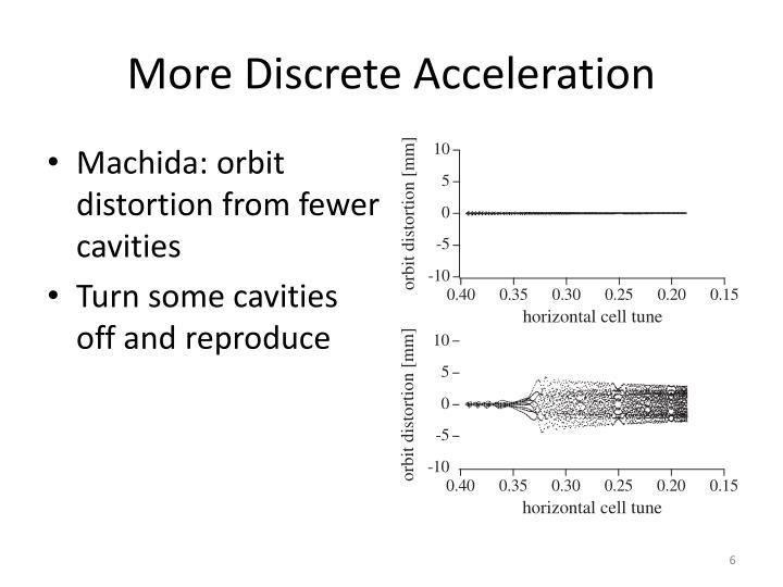 More Discrete Acceleration