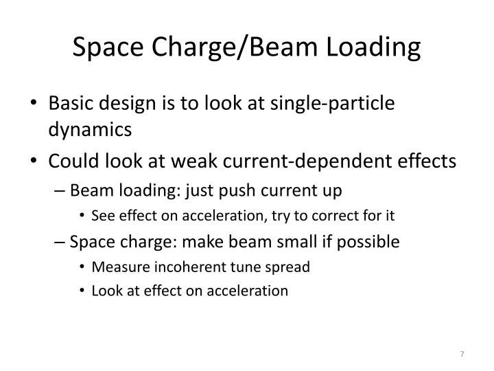 Space Charge/Beam Loading