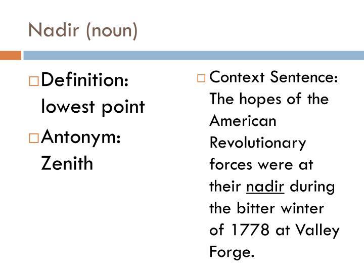 Nadir (noun)