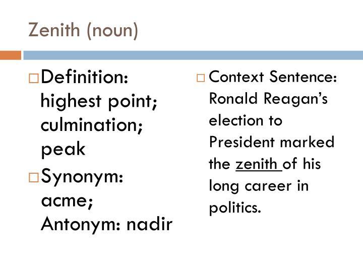 Zenith (noun)