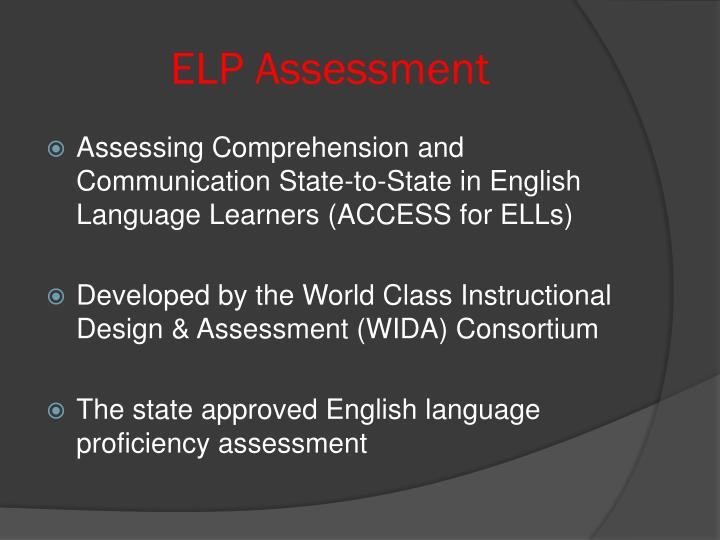 ELP Assessment