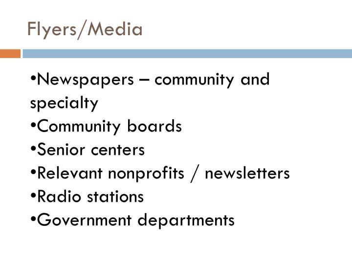 Flyers/Media