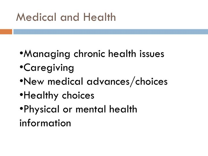 Medical and Health