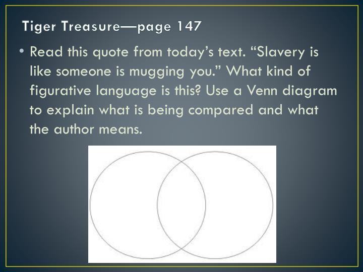 Tiger Treasure—page 147