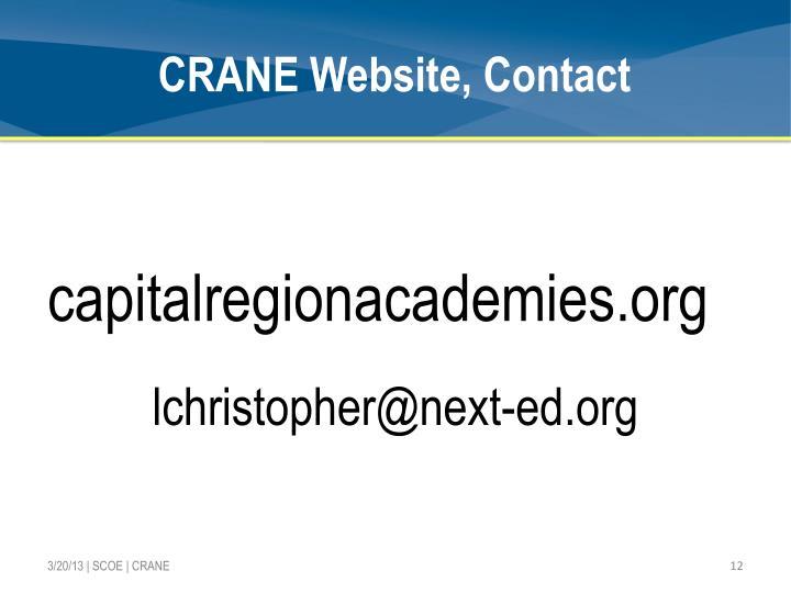 CRANE Website, Contact