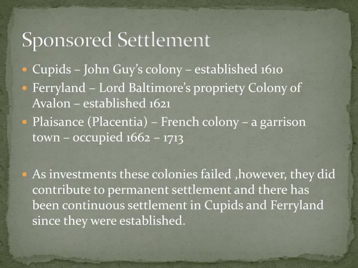 Sponsored Settlement