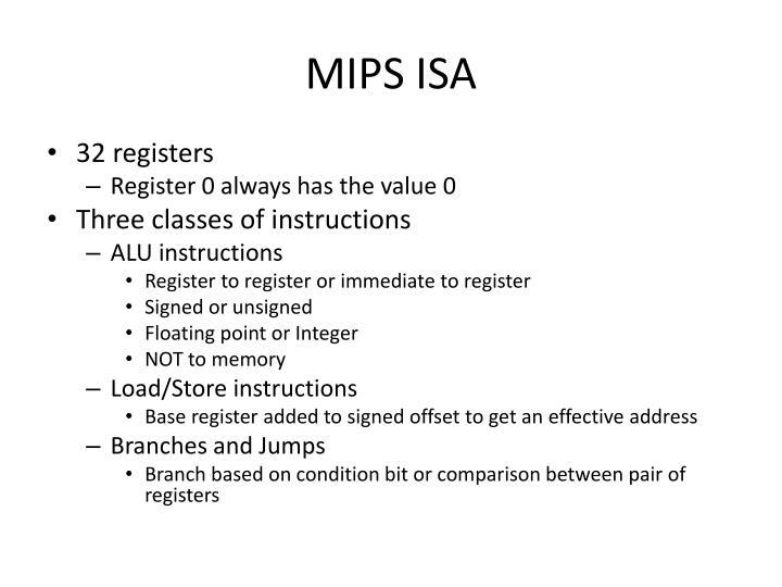 MIPS ISA