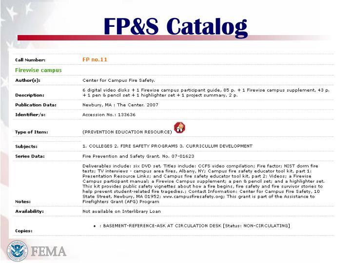 FP&S Catalog