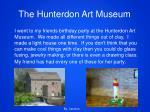 the hunterdon art museum