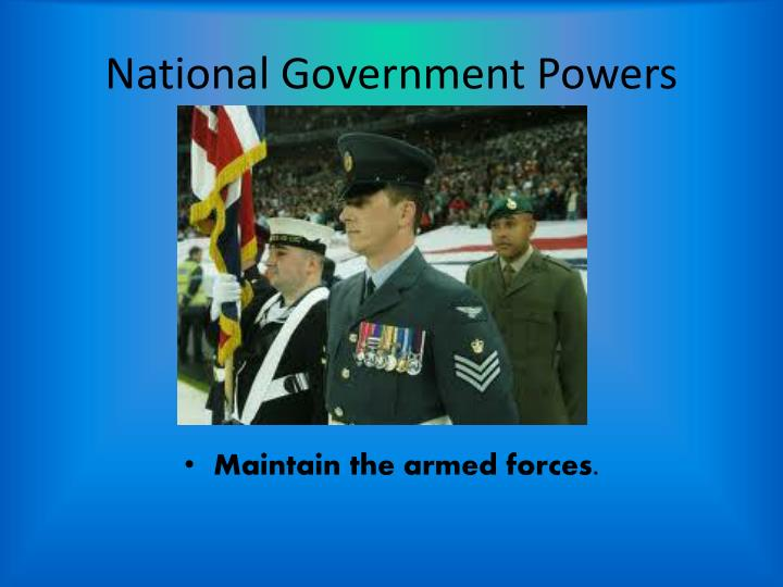National Government Powers