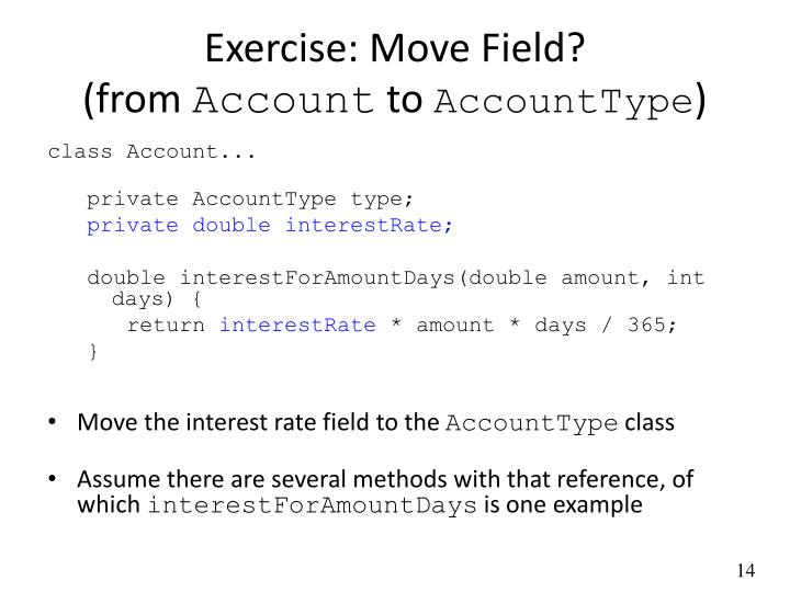 Exercise: Move Field?