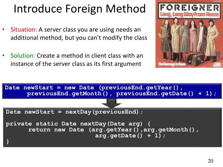 Introduce Foreign Method
