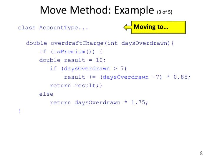 Move Method: Example
