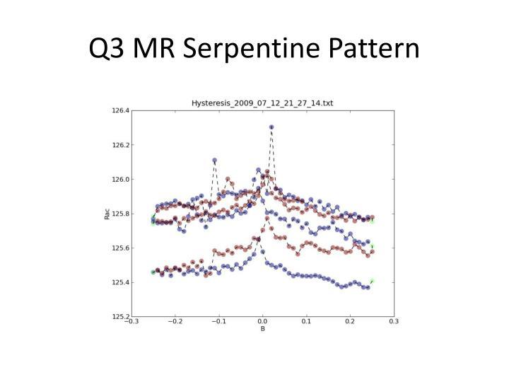 Q3 MR Serpentine Pattern