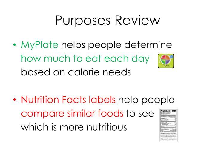 Purposes Review