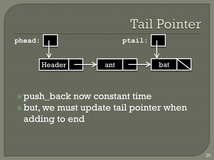 Tail Pointer