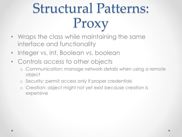 Structural Patterns: