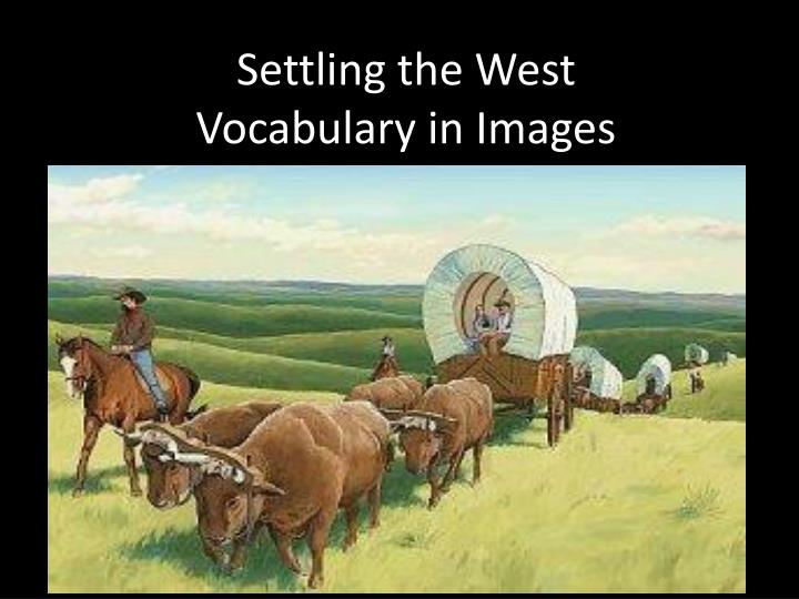 Settling the west vocabulary in images