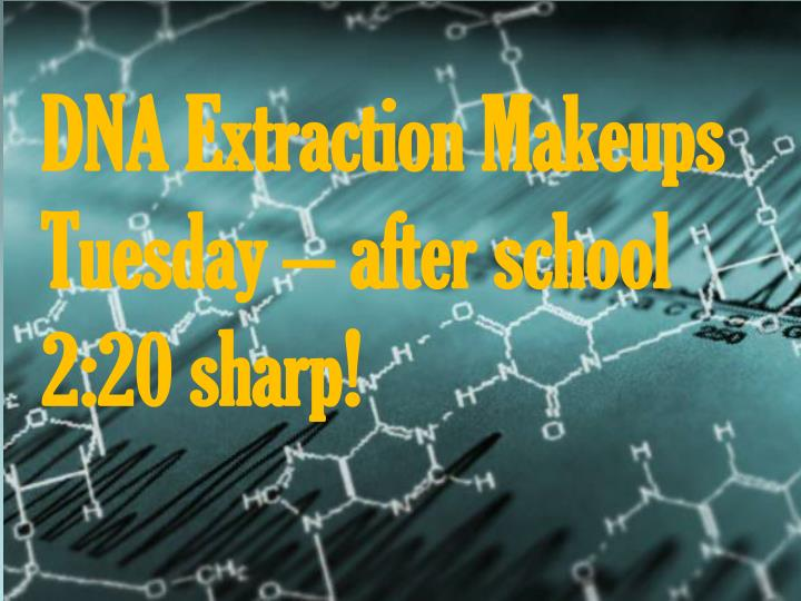 dna extraction makeups tuesday after school 2 20 sharp