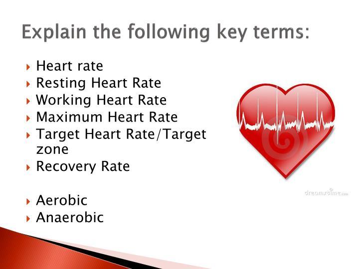 Explain the following key terms: