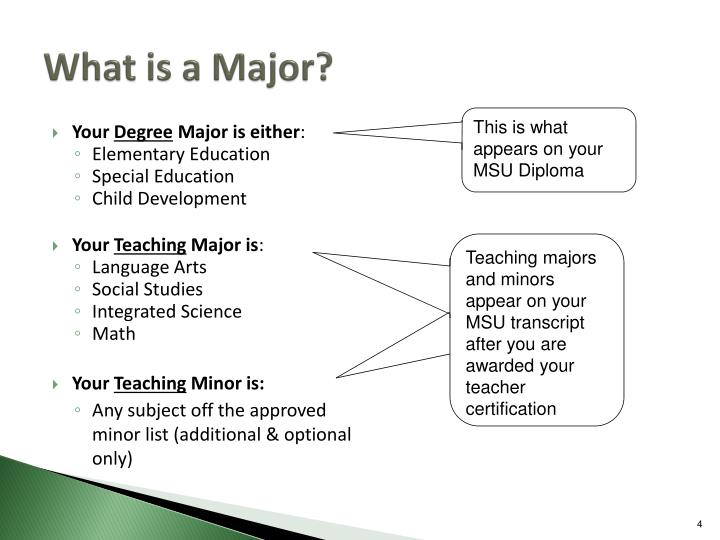 What is a Major?