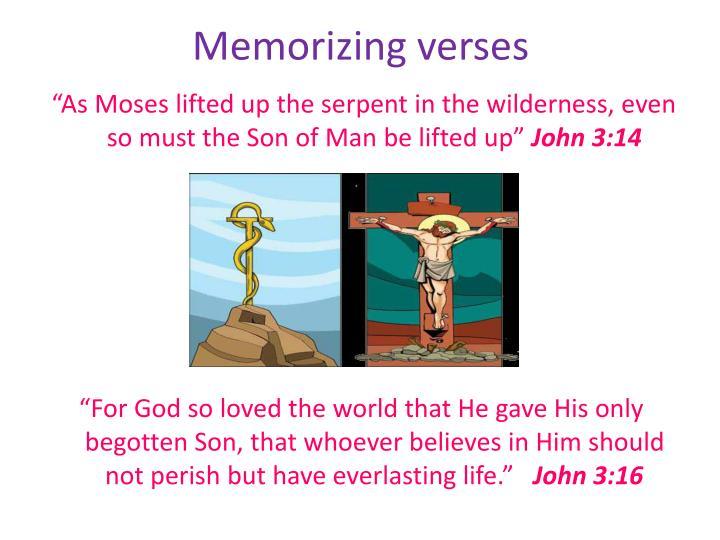 Memorizing verses
