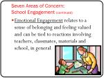 seven areas of concern school engagement continued1