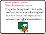 seven areas of concern school engagement continued2