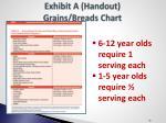 exhibit a handout grains breads chart