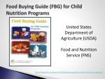 food buying guide fbg for child nutrition programs