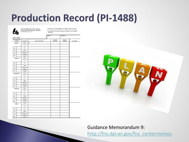 Production Record (PI-1488)