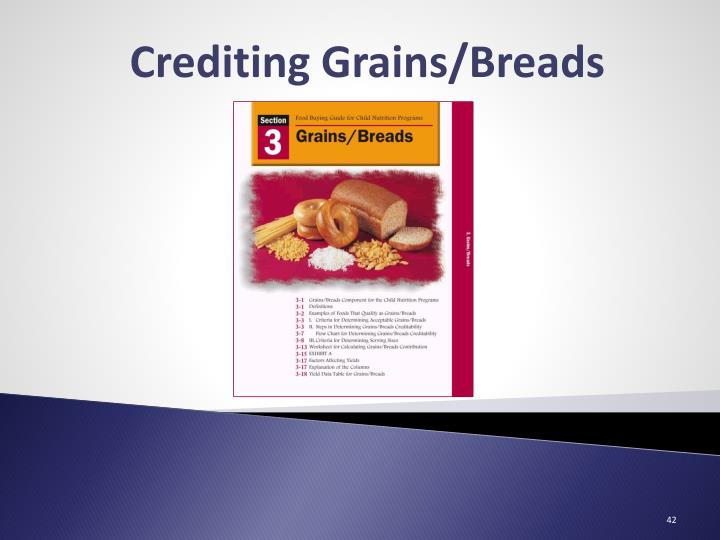 Crediting Grains/Breads