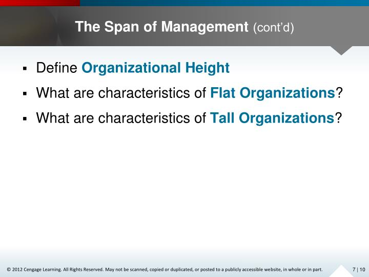 The Span of Management