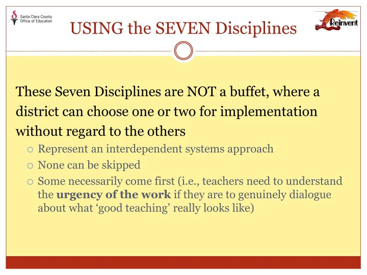 USING the SEVEN Disciplines