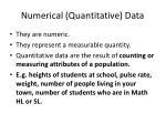 numerical quantitative data