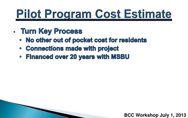 Pilot Program Cost Estimate