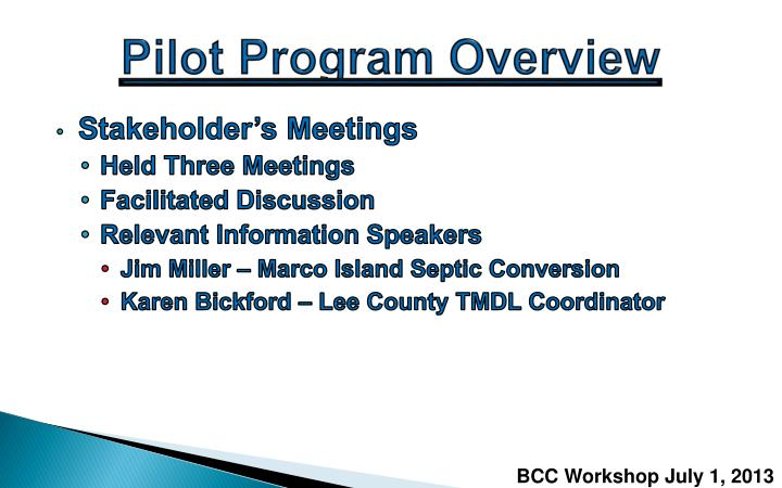 Pilot Program Overview