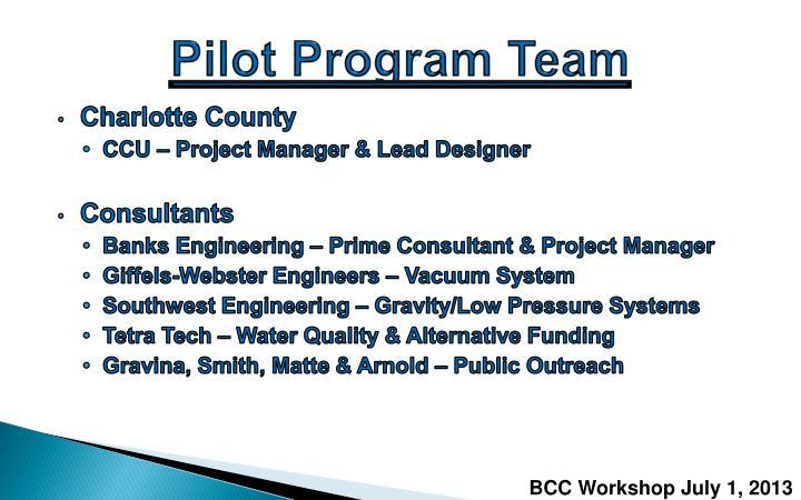 Pilot Program Team
