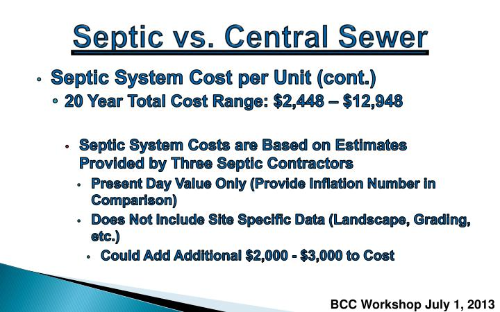 Septic vs. Central Sewer