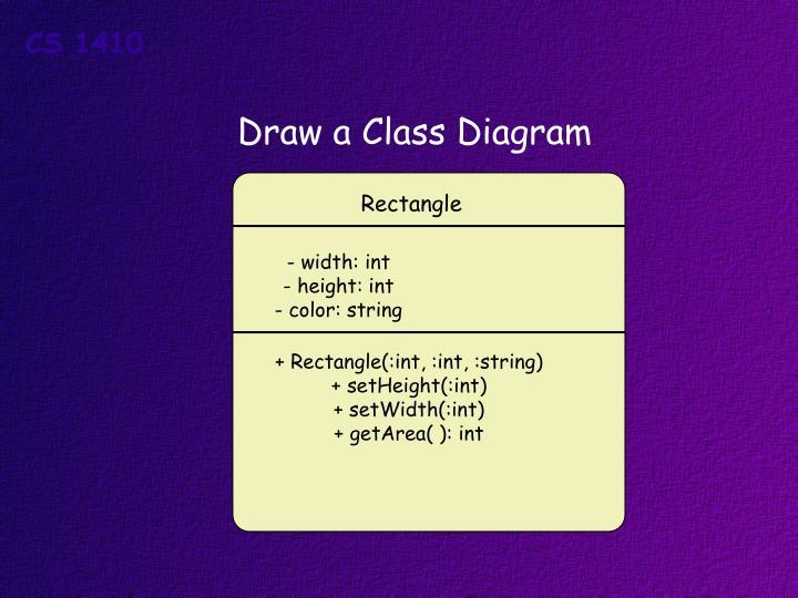 Draw a Class Diagram
