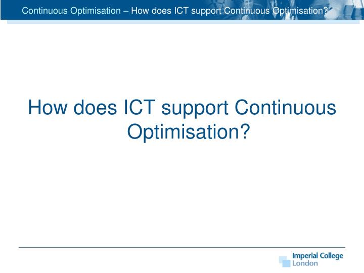 Continuous Optimisation