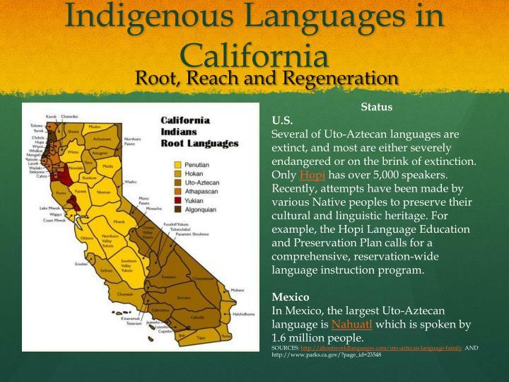 Indigenous Languages in California