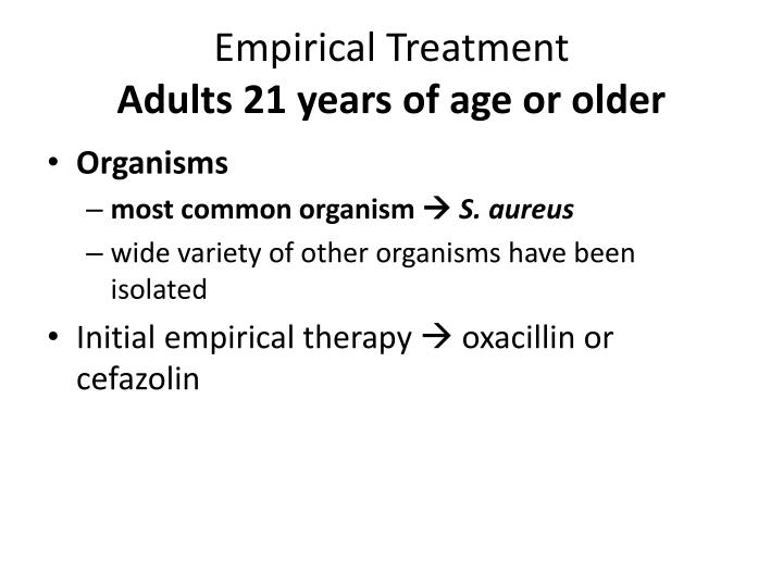 Empirical Treatment