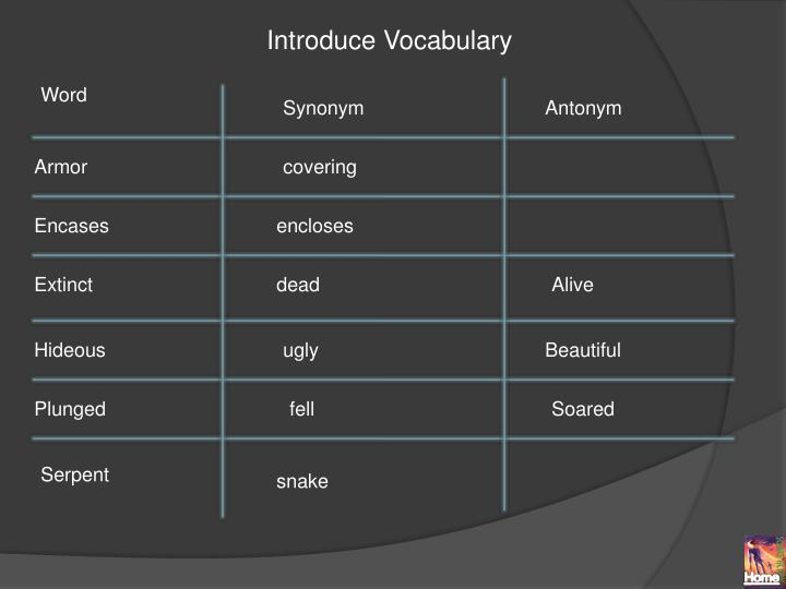 Introduce Vocabulary