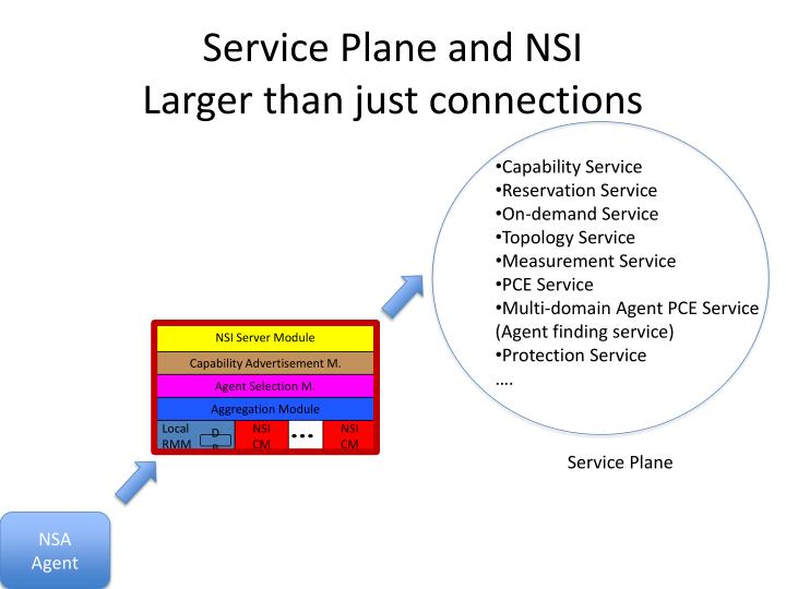 Service Plane and NSI