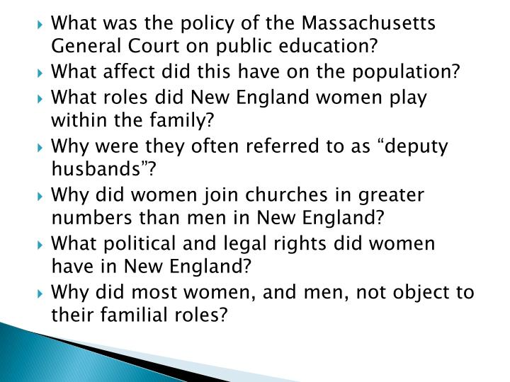 What was the policy of the Massachusetts General Court on public education?